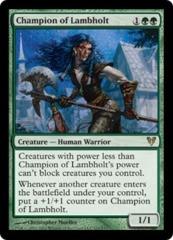 Champion of Lambholt - Foil on Channel Fireball