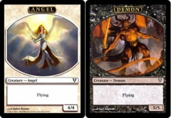 Angel/Demon Token (Double-Faced Helvault Foil) on Channel Fireball