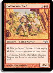 Goblin Warchief on Channel Fireball