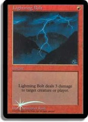 Lightning Bolt (Judge Foil) on Channel Fireball