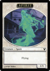 Spirit // Soldier Token (Double-Faced) on Channel Fireball