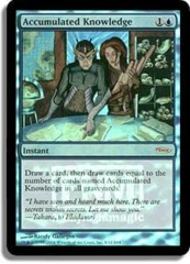 Accumulated Knowledge (FNM Foil) on Channel Fireball