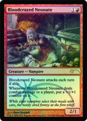 Bloodcrazed Neonate (WPN Foil) on Channel Fireball