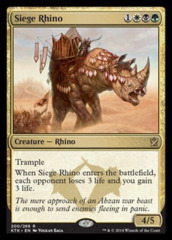 Siege Rhino on Channel Fireball