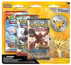 Pokemon Legendary Collectors 3-Booster Blister Pack - Zapdos Pin