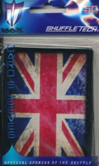 Max Protection Standard Size Sleeves Union Jack Great Britain Flag - 50ct