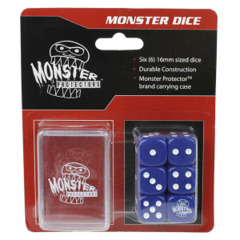 Monster Protectors 6-Piece Dice Set & Carrying Case - Blue