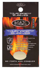 Max Protection Tournament Standard Size Titanium Sleeves - 100ct