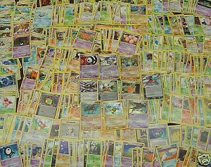 100 Assorted Pokemon Cards With 6 Foils Bulk Lot