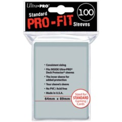 Ultra Pro Standard Size Pro-Fit Sleeves - 100ct