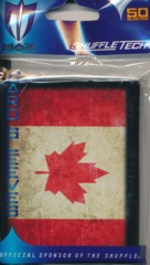 Max Protection Standard Size Sleeves Canada Flag - 50ct