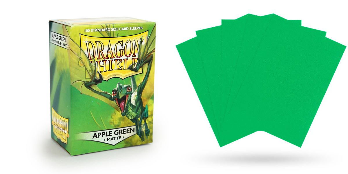 Dragon Shield Sleeves - Matte Apple Green - 100ct