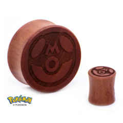 "Master Ball Wood Ear Plug – 1/2"""