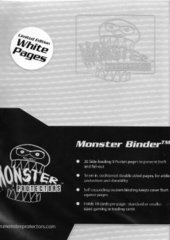 4-Pocket Monster Binder - Holo White w/ White Pages