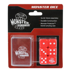 Monster Protectors 6-Piece Dice Set & Carrying Case - Red