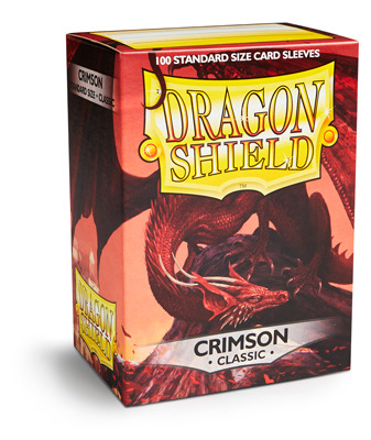 Dragon Shield Classic Standard-Size Sleeves - Crimson - 100ct