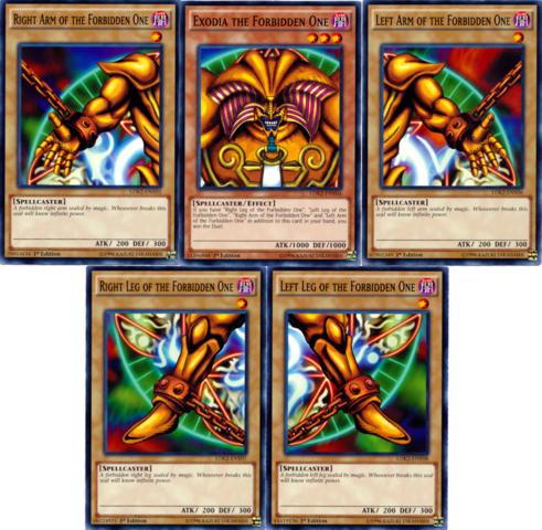 Exodia The Forbidden One Full 5-Card Set - Legendary Decks II - Common