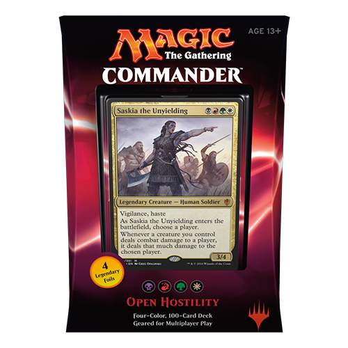 2016 Commander Series: Black/Red/Green/White BRGW Deck