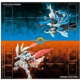 Japanese Pokemon Black Kyurem & White Kyurem Paper Play Mat Poster