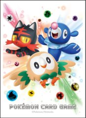 Japanese Pokemon SM1 Sun & Moon Rowlet Litten Popplio Sleeves - 64ct