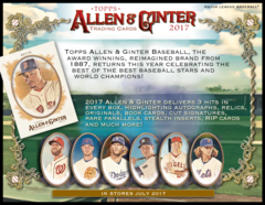2017 Topps MLB Allen & Ginter Hobby Box