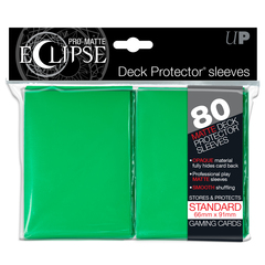 Ultra Pro Standard Size Green PRO-Matte Eclipse Sleeves - 80ct