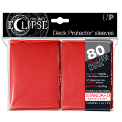 Ultra Pro Standard Size Red PRO-Matte Eclipse Sleeves - 80ct