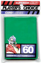 Player's Choice Yu-Gi-Oh Sleeves Pack of 60 in Green