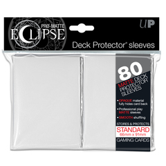 Ultra Pro Standard Size White PRO-Matte Eclipse Sleeves - 80ct