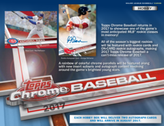 2017 Topps Chrome MLB Baseball Hobby Box