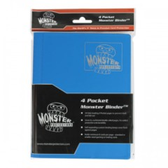 4-Pocket Monster Binder - Matte Arctic Blue