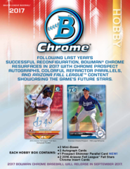 2017 Bowman Chrome MLB Hobby Box