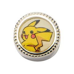Pikachu & Pokeball Sterling Silver Bead Charm