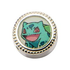 Bulbasaur & Pokeball Sterling Silver Bead Charm