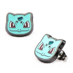 Bulbasaur Head Stainless Steel Stud Earrings