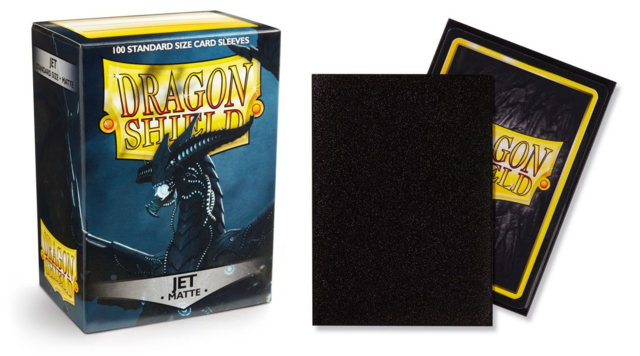 Dragon Shield Matte Standard-Size Sleeves - Jet - 100ct