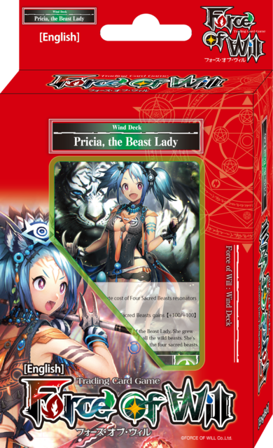Force of Will Pricia, the Beast Lady Seven Kings Starter Deck