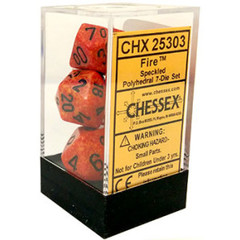 Chessex Dice CHX 25303 Speckled Polyhedral Fire Set of 7