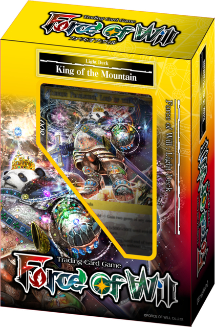 Force of Will New Legend Precipice King of the Mountain Starter Deck