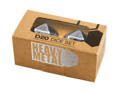 Ultra Pro Heavy Metal D20 2-Dice Set -  Chrome