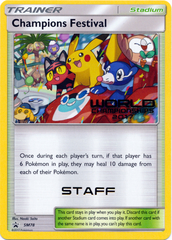 Champions Festival SM78 STAFF Stamp Promo - 2017 Pokemon World Championships