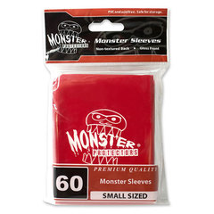 Monster Small Size Red Logo Sleeves - 60ct