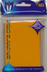 Max Protection Alpha Gloss Small Size Sleeves - Orange - 60ct