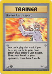 Blaine's Last Resort - 105/132 Uncommon - 1st Edition
