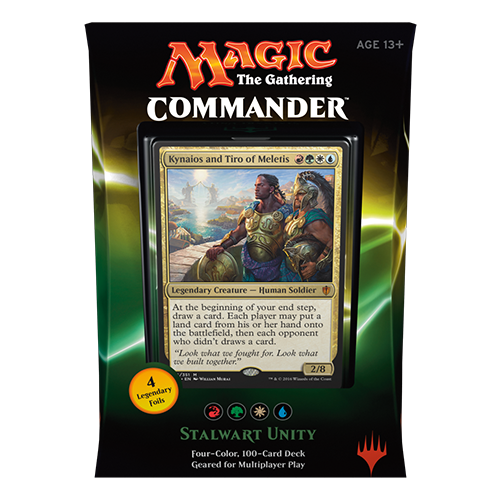 2016 Commander Series: Red/Green/White/Blue RGWU Deck