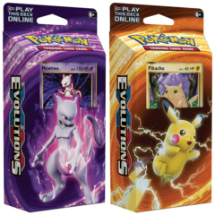 Pokemon XY12 Evolutions Set of 2 Theme Decks Mewtwo & Pikachu