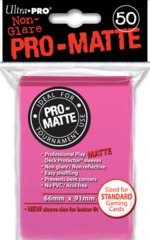 Ultra Pro Standard Size Bright Pink Pro Matte Sleeves - 50ct