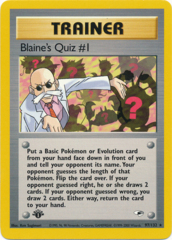 Blaine's Quiz #1 - 97/132 Rare - 1st Edition