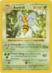 Beedrill - 17/102 - Rare - Shadowless Edition