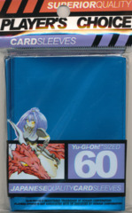Player's Choice Yu-Gi-Oh Sleeves Pack of 60 METALLIC Blue